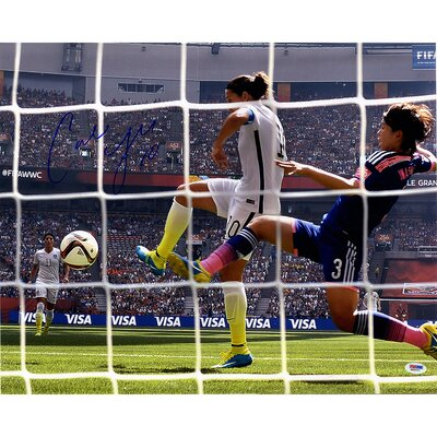 Carli Lloyd Signed 2015 World Cup Goal Back of Net Goal Shot Photographic Print LLOYPHS016001