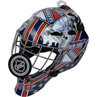 Decorative New York Rangers Henrik Lundqvist Signed Full Size Replica Shield Logo Goalie Mask LUNDHES000007