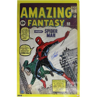 Stan Lee Amazing Spider Man Stan Lee Auth Vintage Advertisement LEESPOS024016