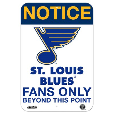 NHL Fans Only Textual Art NHL Team: Saint Louis Blues