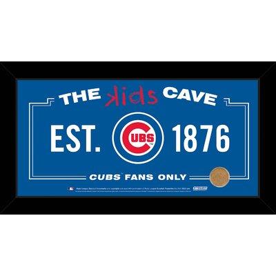 MLB Kids Cave Framed Textual Art Size: 10