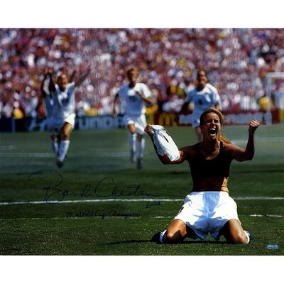 Brandi Chastain Signed PK Celebration Photographic Print CHASPHS016007