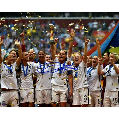 Christie Rampone Signed Team USA 2015 Womens World Cup Final Champions Trophy Celebration Photographic Print RAMPPHS008000