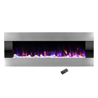 Quesinberry Stainless Steel Wall Mounted Electric Fireplace ORNE7617 43898668