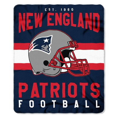 NFL New England Patriots Printed Fleece Throw NW-08802