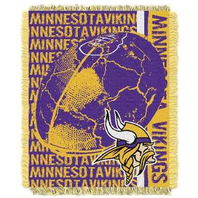 NFL Minnesota Vikings Triple Woven Jacquard Throw Blanket