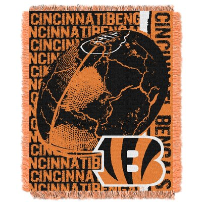 NFL Cincinnati Bengals Triple Woven Jacquard Throw Blanket