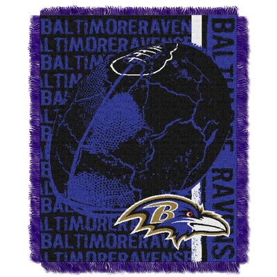 NFL Baltimore Ravens Triple Woven Jacquard Throw Blanket