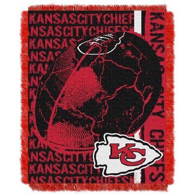 NFL Kansas City Chiefs Triple Woven Jacquard Throw Blanket