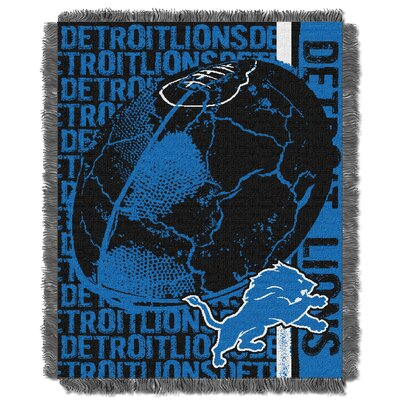 NFL Detroit Lions Triple Woven Jacquard Throw Blanket
