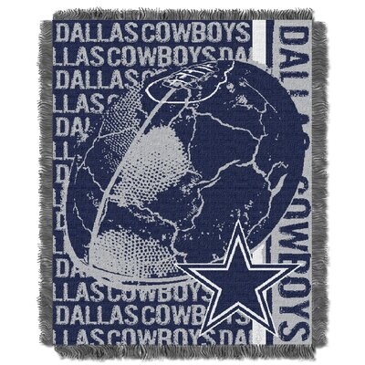 NFL Dallas Cowboys Triple Woven Jacquard Throw Blanket