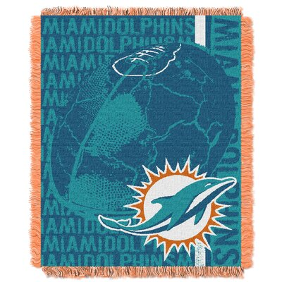 NFL Miami Dolphins Triple Woven Jacquard Throw Blanket