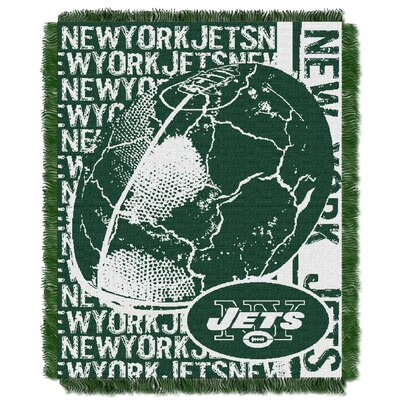NFL New York Jets Triple Woven Jacquard Throw Blanket