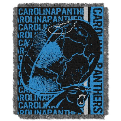 NFL Carolina Panthers Triple Woven Jacquard Throw Blanket