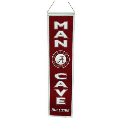 NCAA Man Cave Banner Team: University of Alabama Crimson Tide