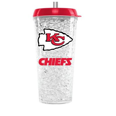 NFL 16 oz. Plastic Travel Tumbler NFL Team: Kansas City Chiefs CMFBKANT