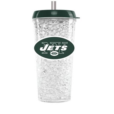 NFL 16 oz. Plastic Travel Tumbler NFL Team: New York Jets CMFBNYJT