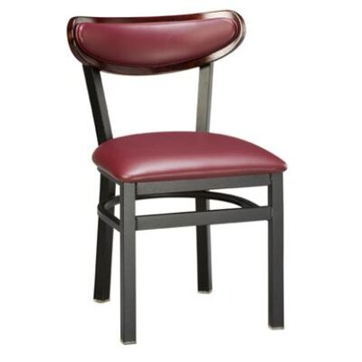 Regal Moon Side Chair - Upholstery: Premier Isometric Brown Vinyl (Grade 4), Finish: Bronze