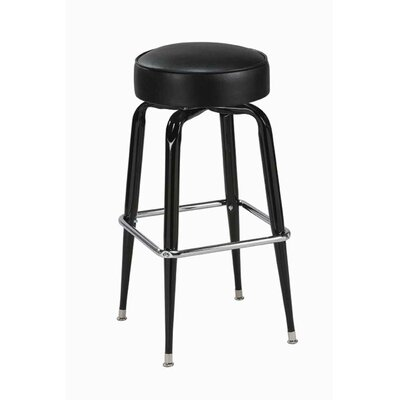 Swivel Bar Stool Seat Height: 26, Upholstery: Black