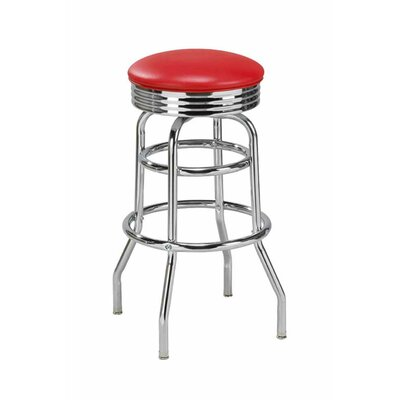 Swivel Bar Stool Upholstery: Natural, Seat Height: 30 inch