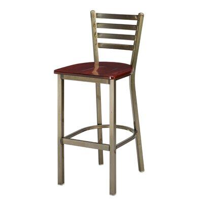Regal Ladder Back Bar Stool - Seat Height: 24