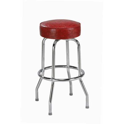 Swivel Bar Stool Upholstery: Black Wood, Seat Height: 30