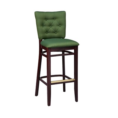 Bar Stool Seat Height: 26, Finish: Mahogany