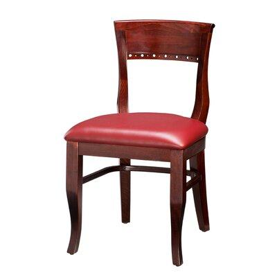Regal Beechwood Beidermier Side Chair - Upholstery: Premier Acorn Vinyl (Grade 4), Finish: Natural