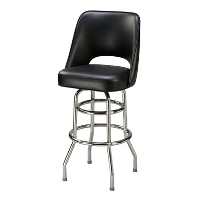 Swivel Bar Stool with Cushion Seat Height: 26