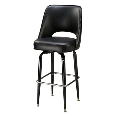 Swivel Bar Stool Upholstery: Black, Seat Height: 30