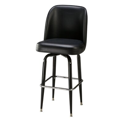 Swivel Bar Stool Upholstery: Mahogany Wood, Seat Height: 30 inch