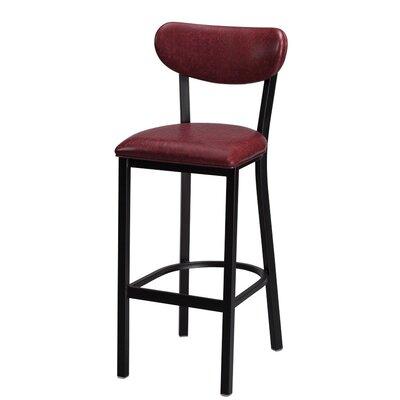 Audel 30 Bar Stool Upholstery: Garnet Laredo