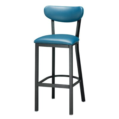 Audel 30 Bar Stool Upholstery: Peacock Blue