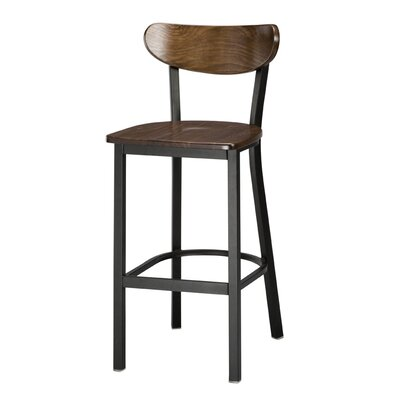 Sebastian 30 Bar Stool Color: Dark Walnut