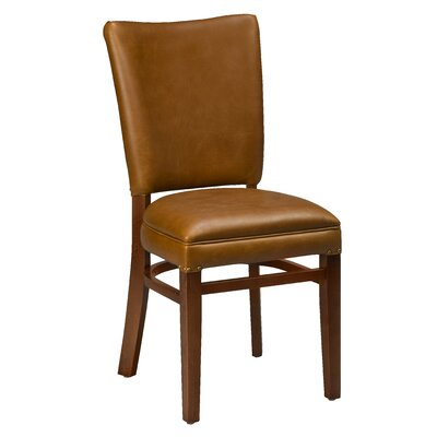 Chesebrough Beechwood Skirted Seat Upholstered Dining Chair