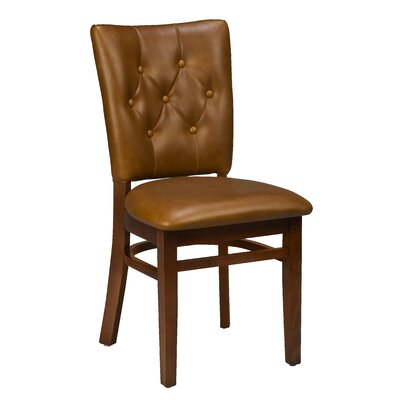 Annamaria Beechwood Button Tufted Upholstered Dining Chair