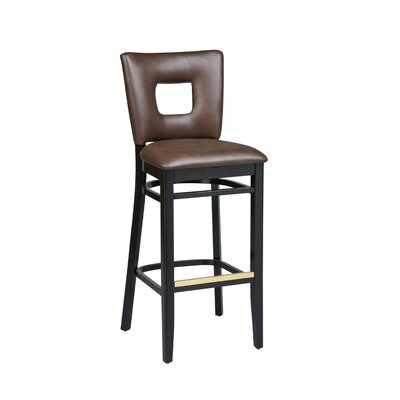 Dobbs Beechwood Square Open Back Bar Stool Seat Height: 26