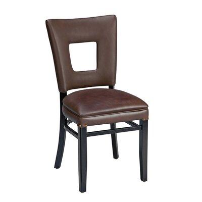 Dobbs Beechwood Square Open Back Skirted Upholstered Dining Chair