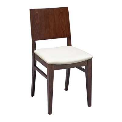 Tipping Beechwood Solid Back Seat Upholstered Dining Chair