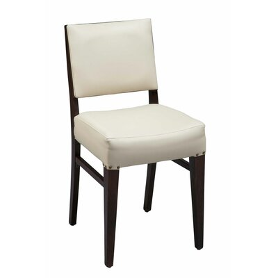 Otwell Beechwood Solid Back Fully Seat Upholstered Dining Chair