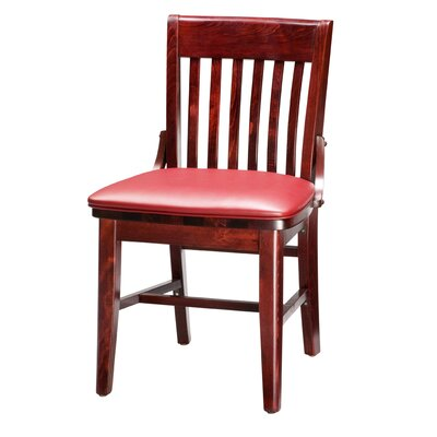 Amoroso Beechwood School House Seat Upholstered Dining Chair