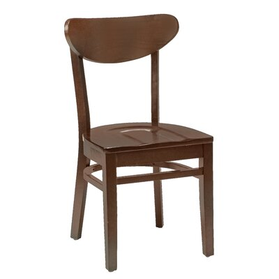 Amoroso Beechwood Moon Shape Back Seat Solid Wood Dining Chair