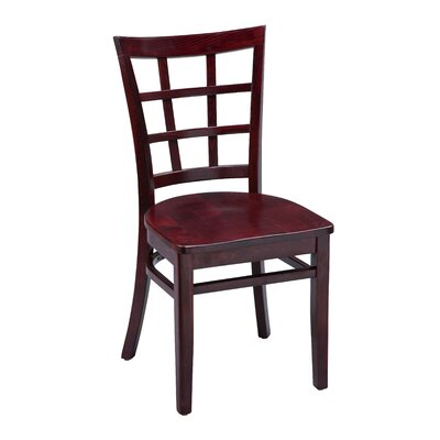 Amoroso Beechwood Lattice Back Seat Solid Wood Dining Chair