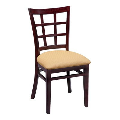 Amoroso Beechwood Lattice Back Standard Seat Upholstered Dining Chair