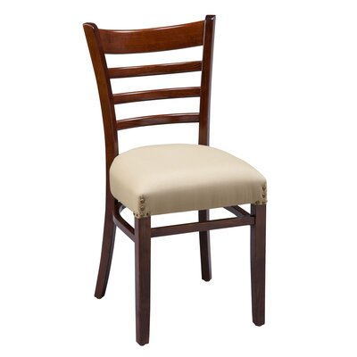 Amoroso Traditional Beechwood Ladder Back Seat Upholstered Dining Chair