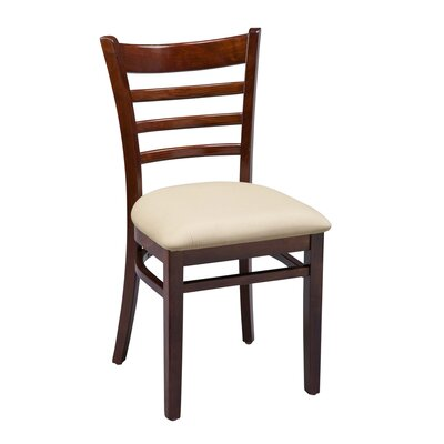 Amoroso Beechwood Ladder Back Seat Upholstered Dining Chair