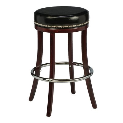 Amoroso Beechwood Backless Bar Stool with Head Nail Trim Seat Height: 26