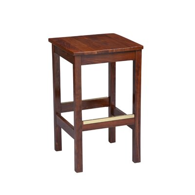 Amoroso Beechwood Square Backless Wood Seat Bar Stool Seat Height: 31