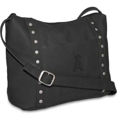 Pangea Brands MLB Women's Mini Top Zip Shoulder Bag - Color: Tan MLB Team: Kansas City Royals