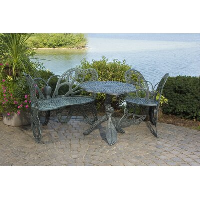 Butterfly 3 Piece Bench Seating Group Set Finish: Antique